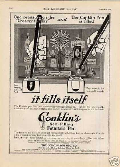 Conklin's Fountain Pen (1913)