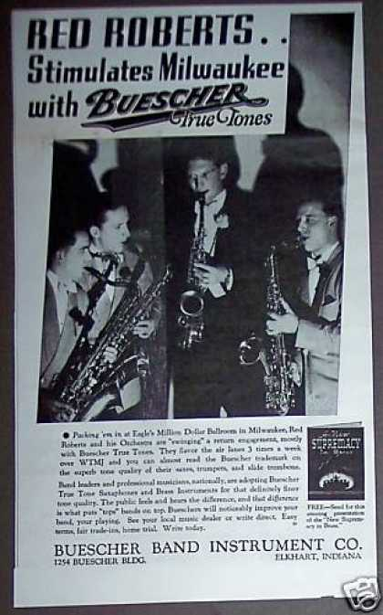 Buescher Saxaphone Musical Instruments Photo (1937)