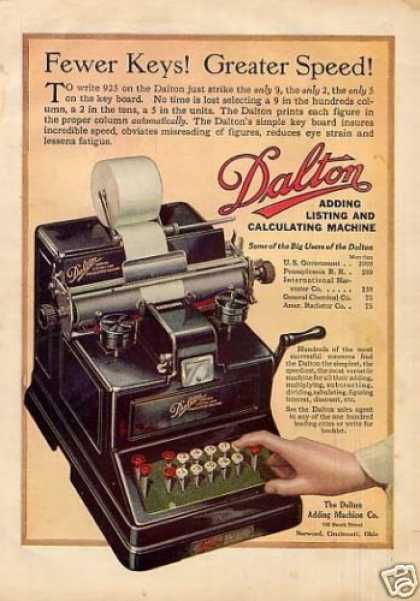 Dalton Adding Calculating Machine Color (1917)