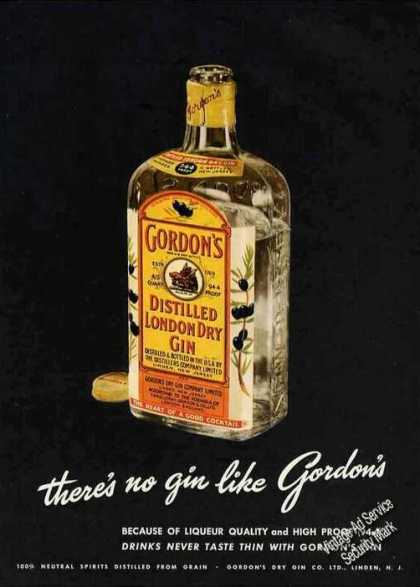 Gordon's Gin Dramatic Collectible (1949)
