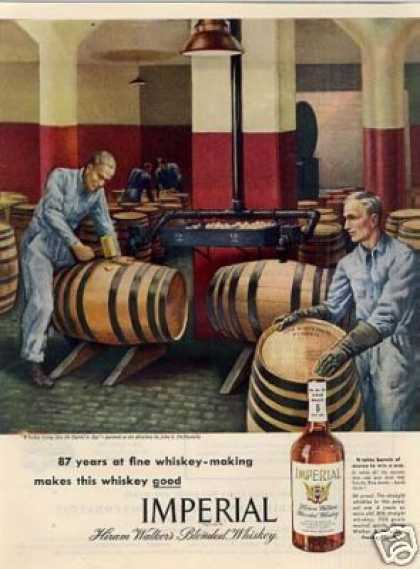 Imperial Whiskey Ad John S. Demartelly Art (1945)