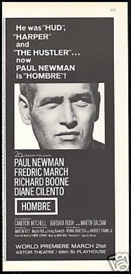 Paul Newman Photo Hombre Movie Promo (1967)