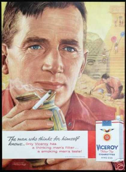 Egyptian Artifacts Art Viceroy Cigarettes (1959)