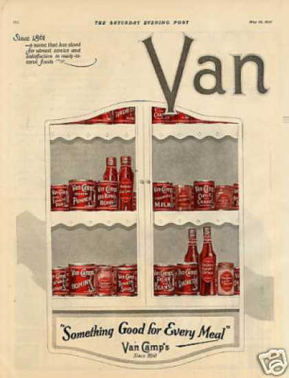 Van Camp's Color Ad 2 Page (1923)