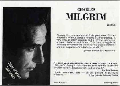 Charles Milgrim Photo Pianist Trade (1962)