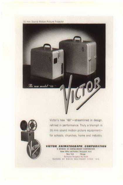 Victor 16mm Motion Projector / Model 60 (1947)