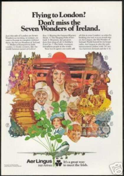 Aer Lingus Irish Airlines Ireland 7 Wonders (1977)