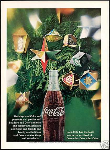 Coke Coca Cola Christmas Decorations (1967)
