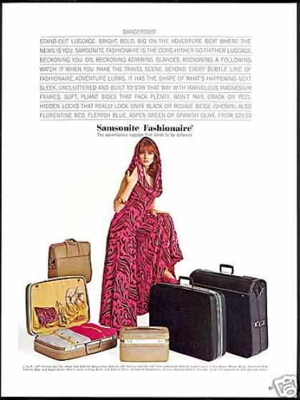 Samsonite Fashonaire Luggage Pretty Woman (1966)