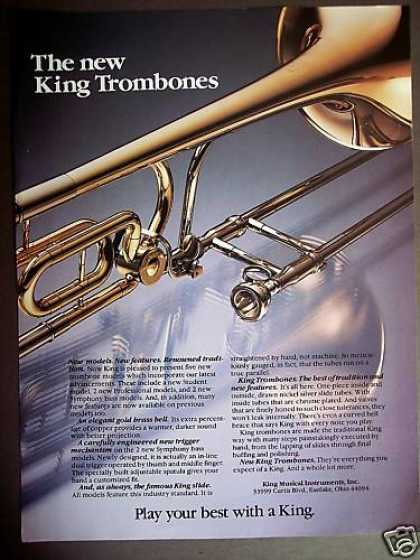 """New"" King Trombones Musical Instruments (1980)"