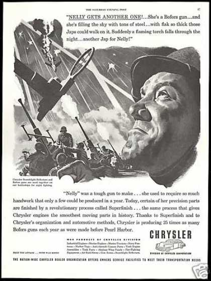 US Navy Anti Aircraft Bofors Guns WWII Chrysler (1944)