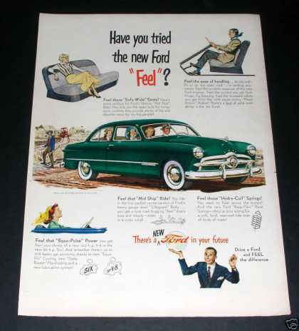 """Theres a Ford In Your Future"" Ad, Ex (1949)"