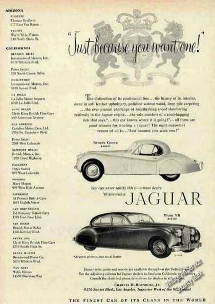 "Jaguar ""Just Because You Want One!"" Rare (1952)"