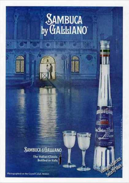 Sambucca By Galliano Nice Canal Scene (1978)