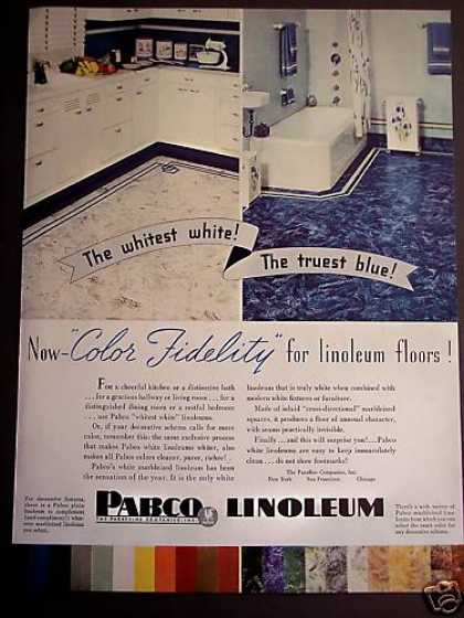 Pabco Linoleum Floors 30's Decor (1938)