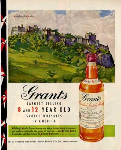 Grant's Whiskey Castle In Background (1950)