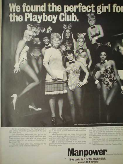 Manpower Temporary Services Playboy Club (1969)