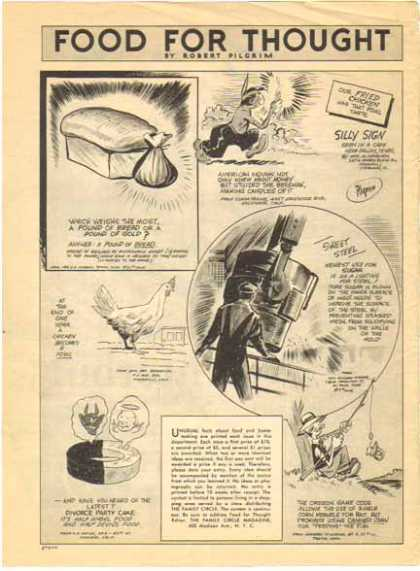 Food For Thought Comic – Robert Pilgrim (1942)