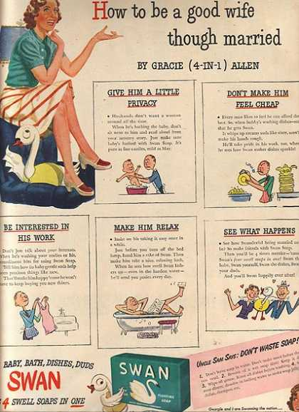 Swan Soap – Gracie Allen (1944)