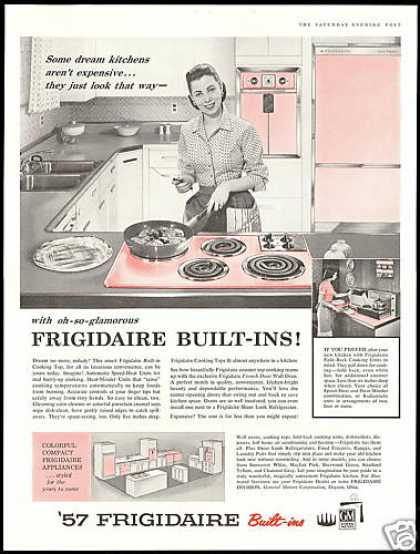 GM Frigidaire Kitchen Appliances Built In Pink (1957)