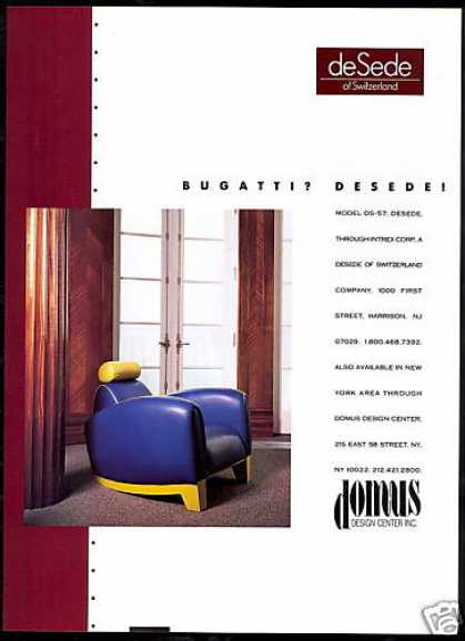 Desede of Switzerland Chair Photo Domus (1991)