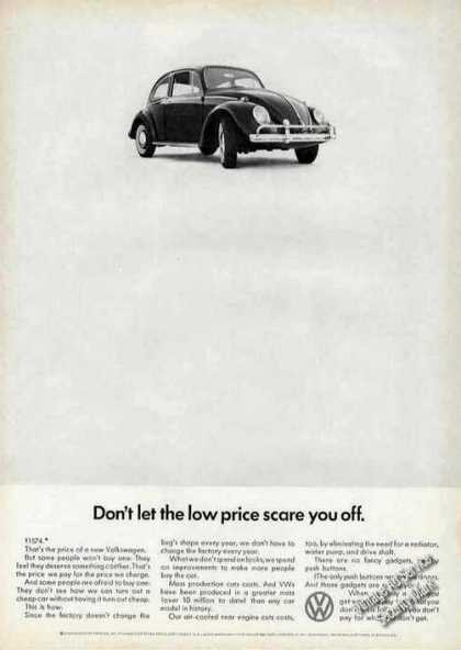 "Vw Volkswagen ""Low Price Scare You Off"" (1966)"