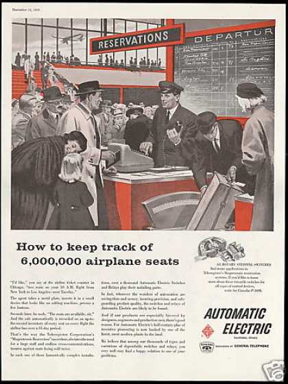 Airport Reservation Counter Automatic Electric (1958)