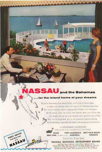 SS Nassau to the Bahamas Islands Cruise – Sold (1954)