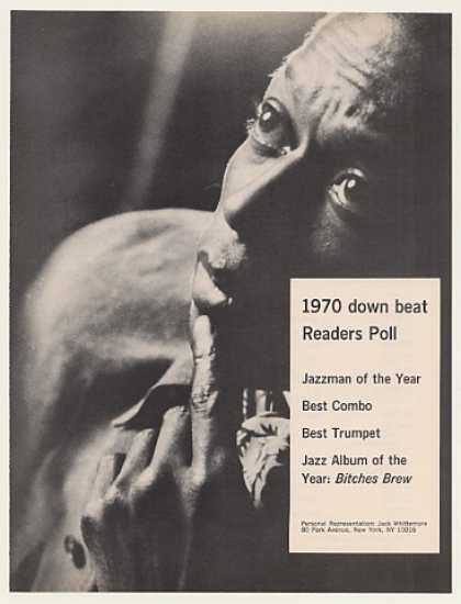 Miles Davis Jazzman of the Year Photo (1971)
