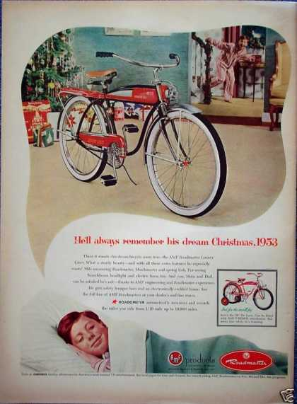 Roadmaster Bicycle Bike Christmas Dream Tree (1953)