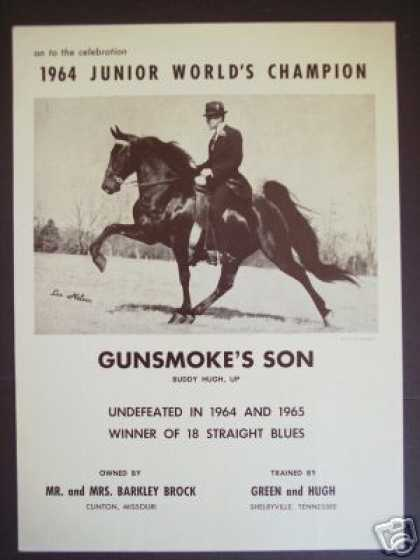 64 World Champion Show Horse Gunsmoke's Son Photo