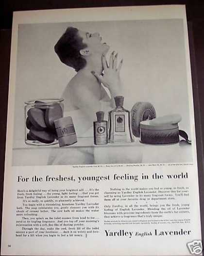 Yardley English Lavendar Beauty Products (1954)