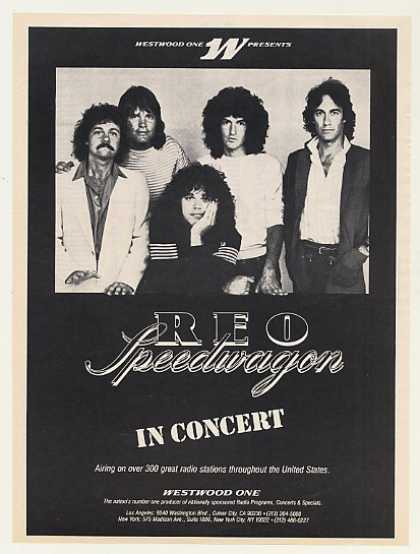 Westwood One REO Speedwagon In Concert Photo (1983)