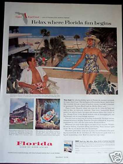 Florida Upper East Coast Travel Promo Vacation (1960)