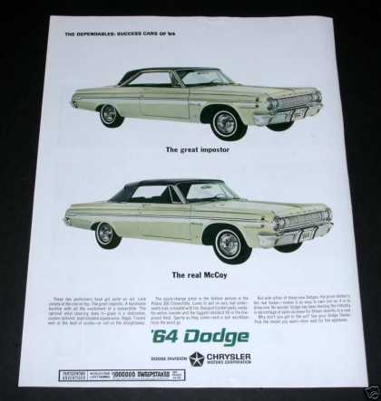 Dodge Polara 500, H/t and Convt (1964)