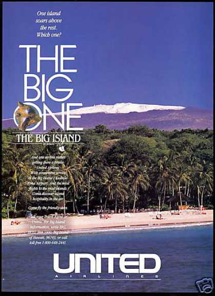 United Airlines Hawaii The Big Island (1991)
