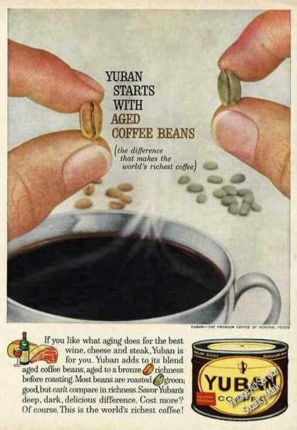 Yuban Starts With Aged Coffee Beans Nice (1961)