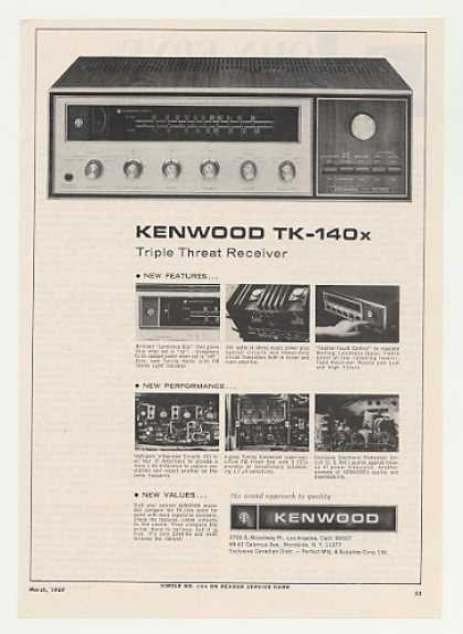 Kenwood TK-140x Stereo Receiver (1969)