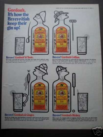 Original Ad Gordon's Gin Drink Recipies (1970)