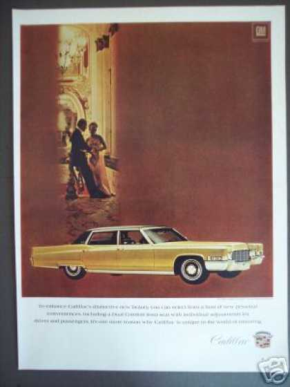 Cadillac Gold Fleetwood Brougham Car Photo (1969)