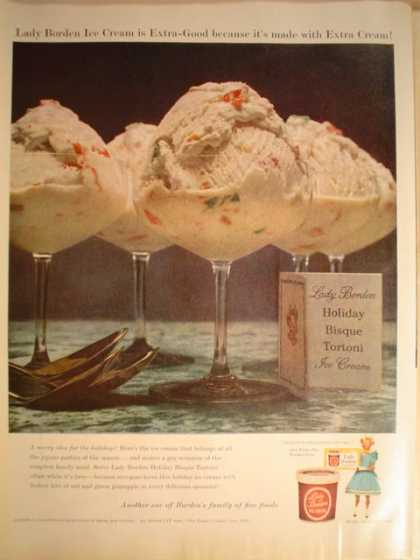 Lady Borden Ice Cream Holiday Bisque (1956)
