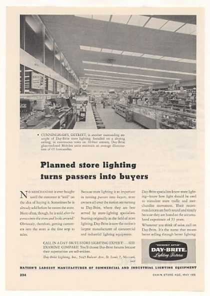 Cunningham's Store Detroit Day-Brite Lighting (1955)