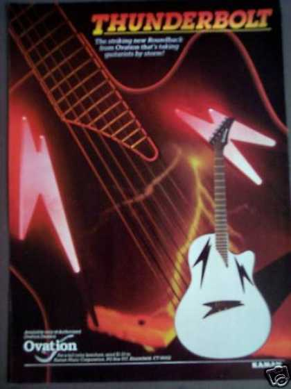Ovation Thunderbolt Guitars Music (1988)