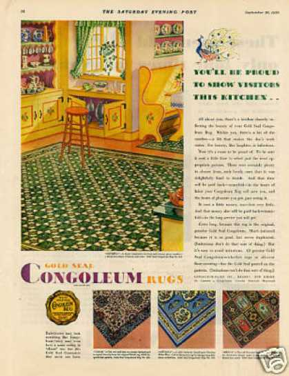 Congoleum Gold Seal Rugs Color (1930)