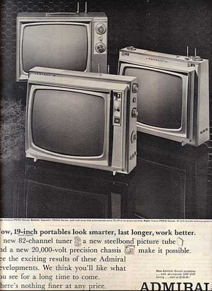 Admiral's 19-inch Portables (1964)
