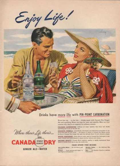 Enjoy Life Canada Dry Ginger Ale Water (1946)