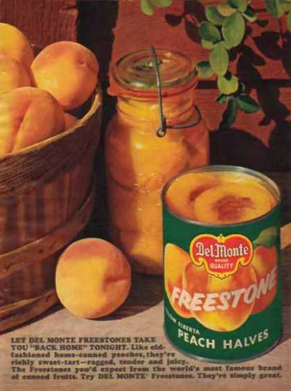 Del Monte Freestone Peach Halves (1963)