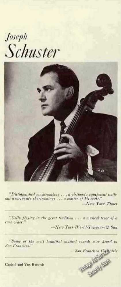 Joseph Schuster Photo Cello Trade (1960)