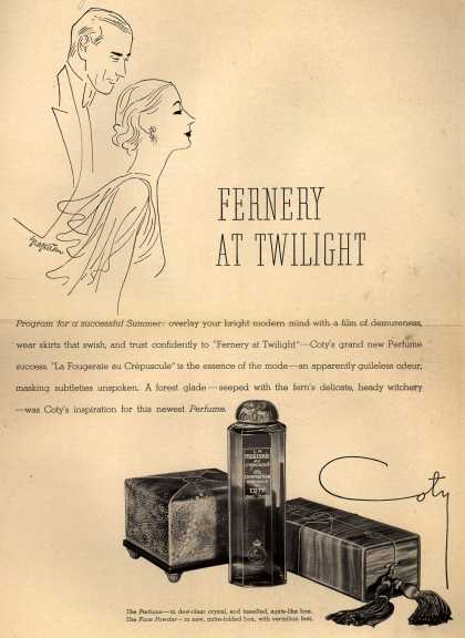 Coty's La Fougeraie au Crepuscule Perfume – Fernery At Twilight (1933)