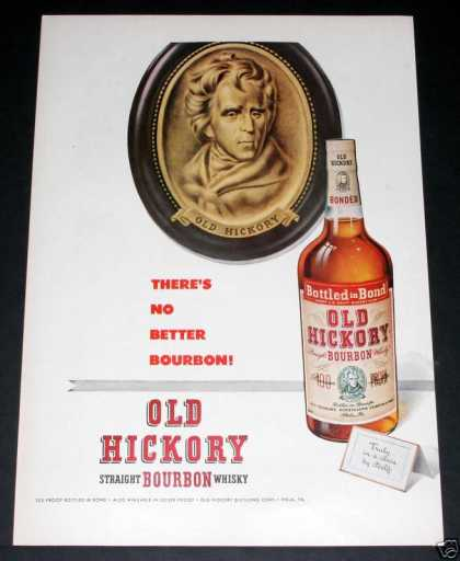Old Hickory Bourbon Whiskey (1951)